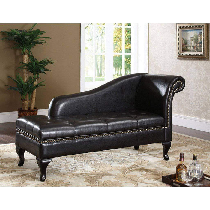 Brassex Inc. Accent Chair Duke Chaise with Storage