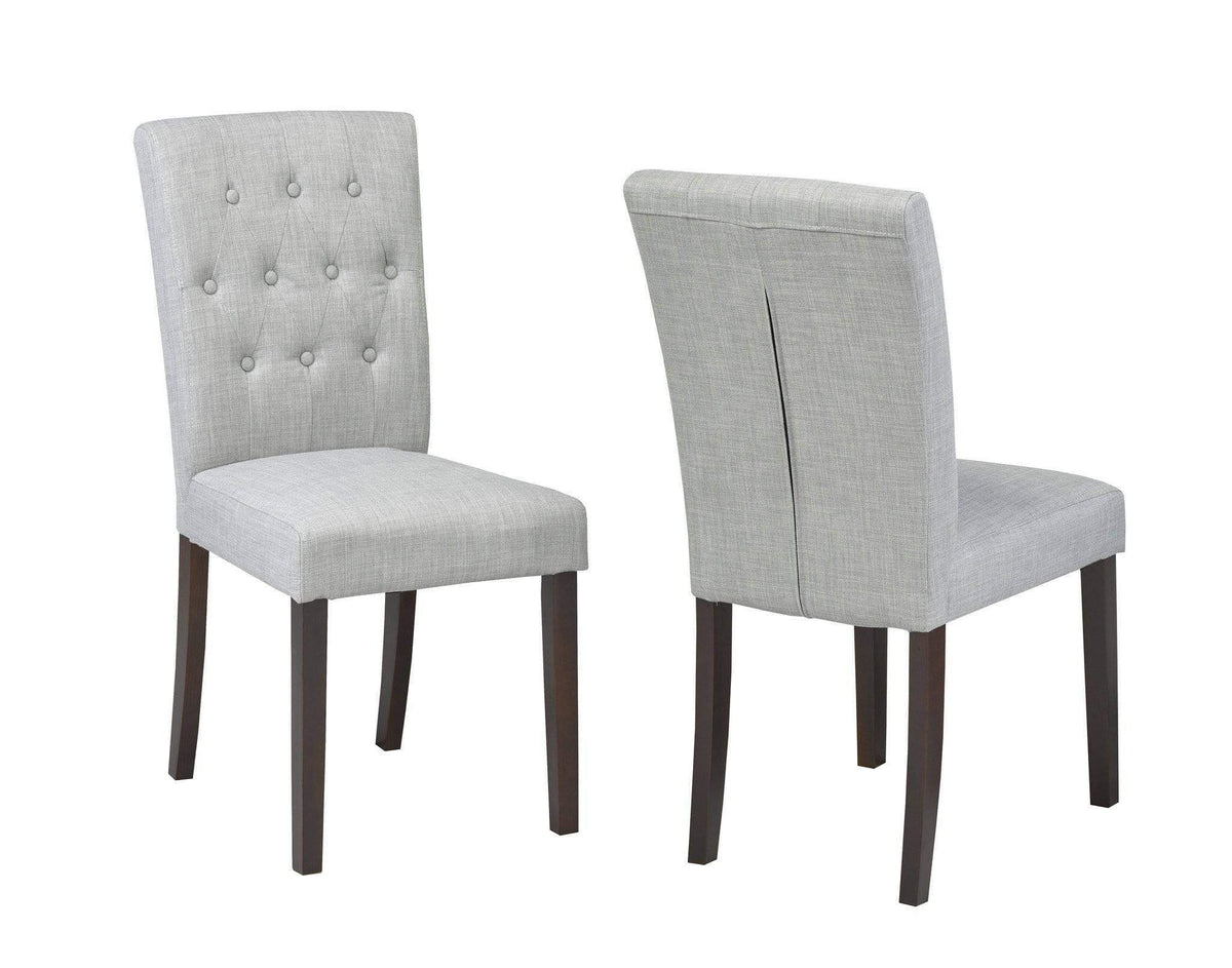 Grey Tufted Dining Chair Set Of 2