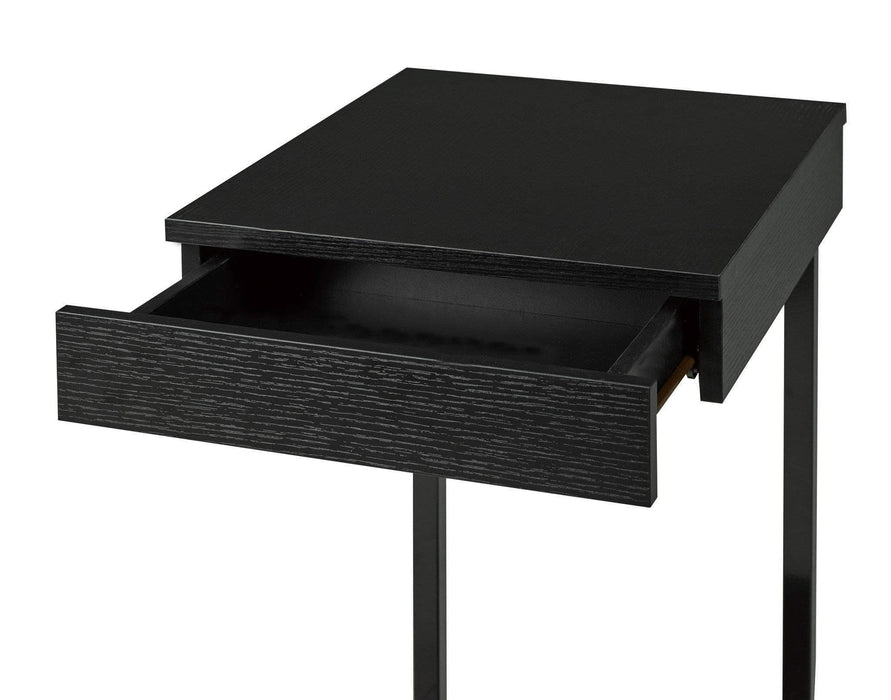 Brassex Inc. Accent Table Adam Snack Table with Castors in Dark Cherry