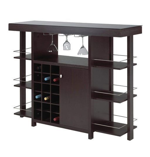 Brassex Inc. Bars, Servers & Carts Martin Bar Unit in Dark Cherry