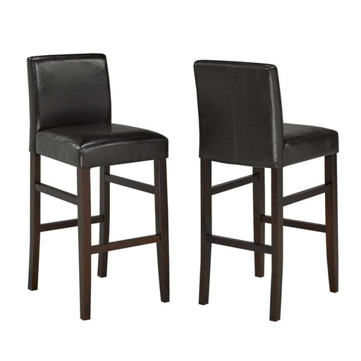 "Brassex Inc. Barstool Espresso Anthony 29"" Bar Stools (Set of 2)  - Available in 3 Colours"
