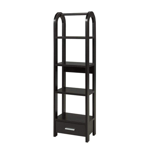 Brassex Inc. Bookcase Black Anne Display Stand  - Available in 3 Colours