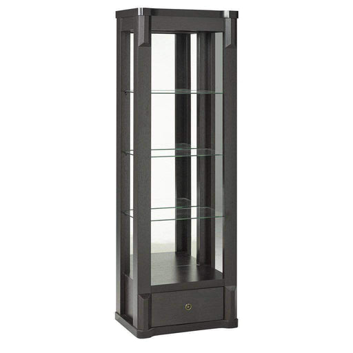 Brassex Inc. Bookcase Midland Curio - Dark Cherry