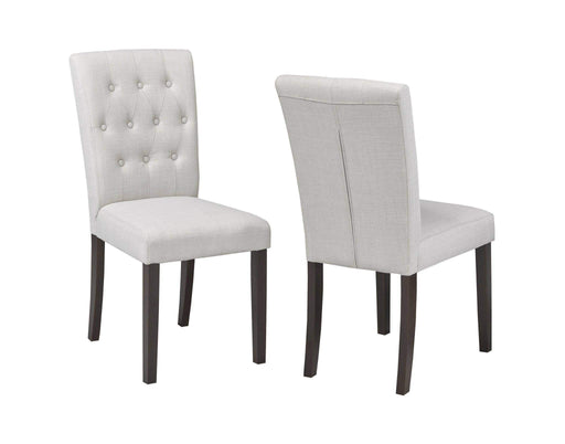 Brassex Inc. Dining Chair Beige Tufted Dining Chair (Set of 2)