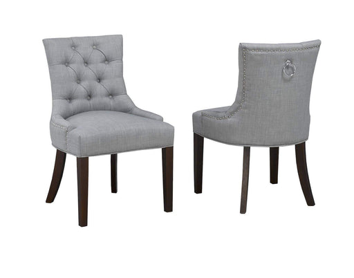 Brassex Inc. Dining Chair Royal Side Chair (Set of 2) in Grey, or Light Beige Linen