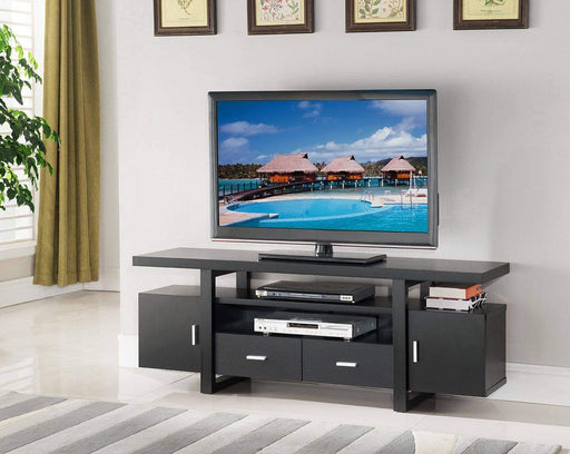 "Brassex Inc. TV Stand 60"" TV Stand - Dark Cherry"