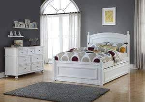 Caramia Furniture Bed White Bed Melinda Full Size Bed Set with Trundle