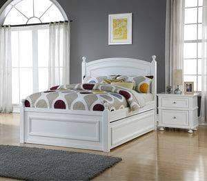 Caramia Furniture Bed White Bed with Nightstand Melinda Full Size Bed Set with Trundle