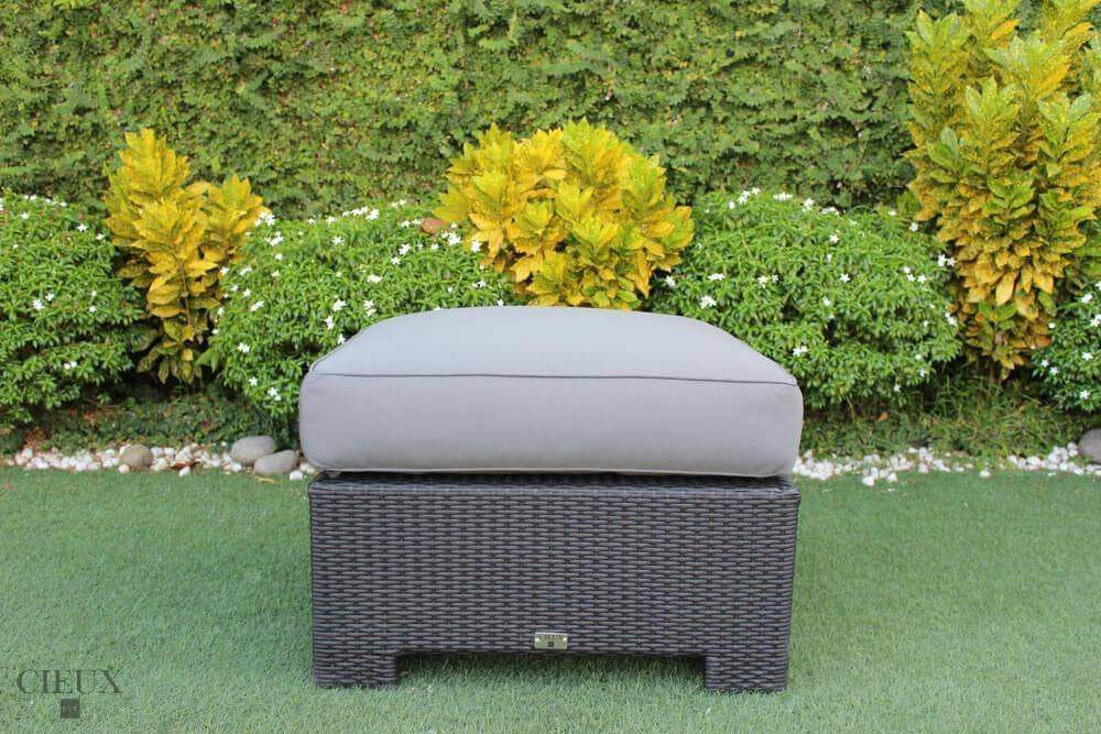CIEUX Accessories Charcoal Grey Provence Ottoman / Glass-Top Coffee Table - Available in 3 Colours