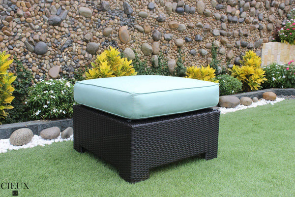 CIEUX Accessories Spectrum Mist Provence Ottoman / Glass-Top Coffee Table - Available in 3 Colours