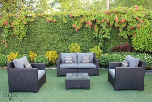 CIEUX Conversation Set Charcoal Provence Conversation Sofa Set - Available in 3 Colours