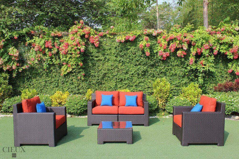 CIEUX Conversation Set Red Provence Conversation Sofa Set - Available in 3 Colours