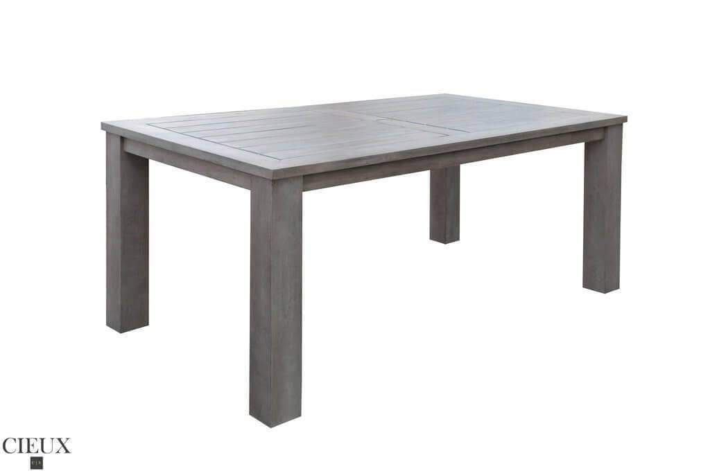 CIEUX Patio Dining Champagne Weathered Teak Table
