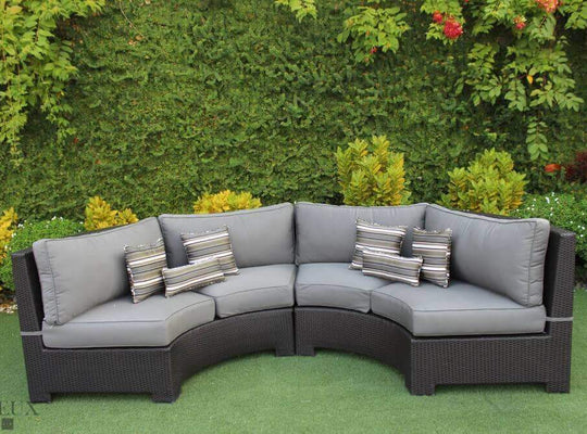 CIEUX Sectional Charcoal Grey Provence Curved Small Sectional - Available in 3 Colours