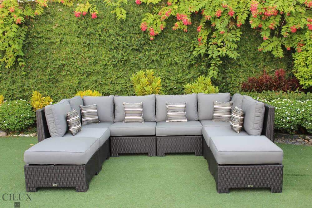 CIEUX Sectional Charcoal Grey Provence Large U-Shaped Sectional - Available in 3 Colours