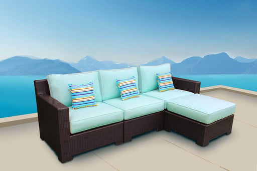 CIEUX Sectional Provence Sectional with Ottoman / Glass-Top Coffee Table - Available in 3 Colours