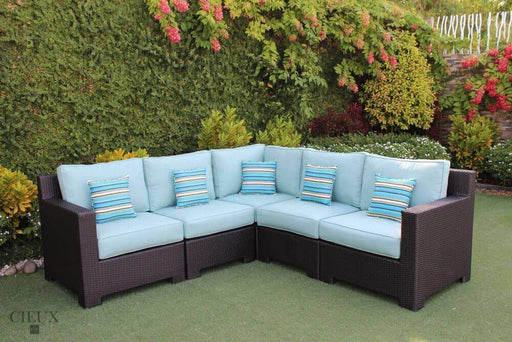 CIEUX Sectional Spectrum Mist Provence Corner Sectional - Available in 3 Colours