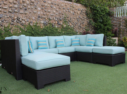 CIEUX Sectional Spectrum Mist Provence Large U-Shaped Sectional - Available in 3 Colours