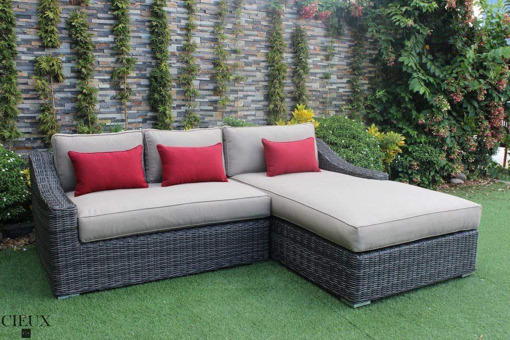 CIEUX Sectional Spectrum Mushroom / Right Arm Facing Marseille Sectional with Chaise - 2 Colours, 2 Configurations