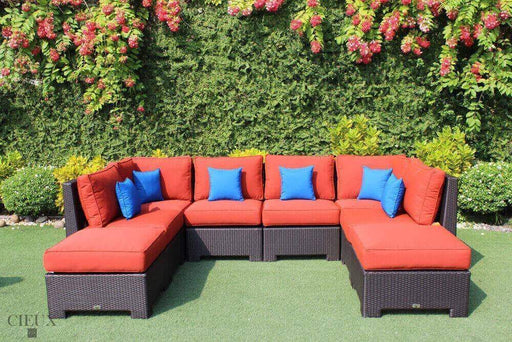 CIEUX Sectional Terracotta Red Provence Large U-Shaped Sectional - Available in 3 Colours