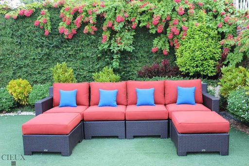 CIEUX Sectional Terracotta Red Provence Medium U-Shaped Sectional - Available in 3 Colours