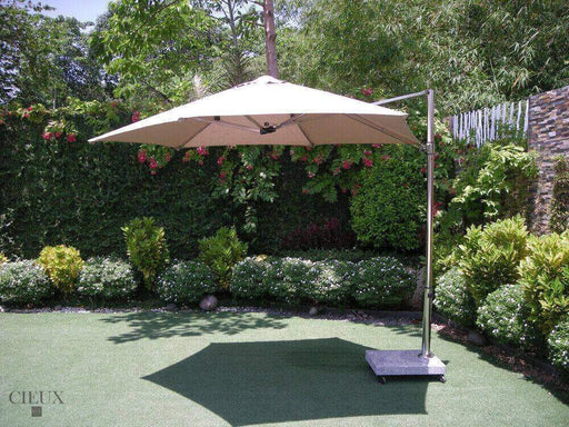 CIEUX Umbrella Marseille Outdoor Cantilever Umbrella with Marble Base on Castors