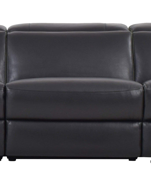Levoluxe Chair Black Aura Top Grain Leather Armless Chair