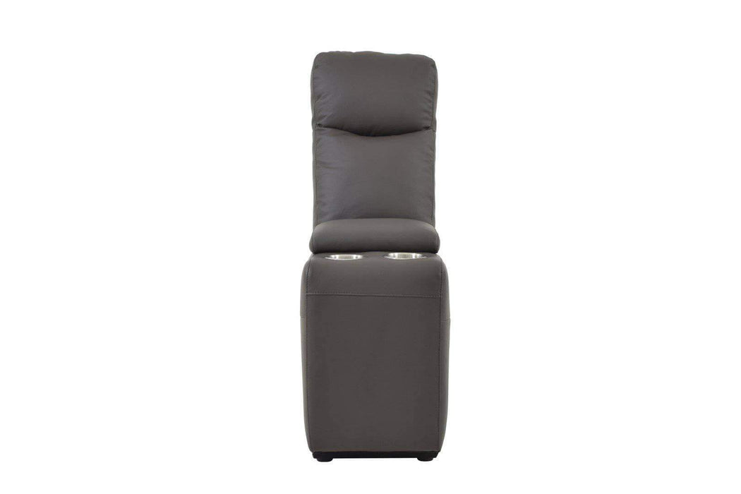 Levoluxe Chair Espresso Leather Volo Storage Console - Available in 3 Colours