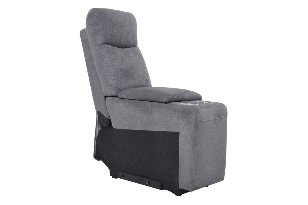 Levoluxe Chair Grey Fabric Volo Storage Console - Available in 3 Colours