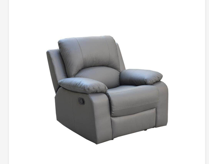 Levoluxe Recliner Grey William Reclining Chair in Leather Match - Available in 2 Colours