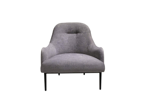 Mobital Accent Chair Dark Grey Swoon Lounge Chair with Black Power Coated Steel- Available in 2 Colours