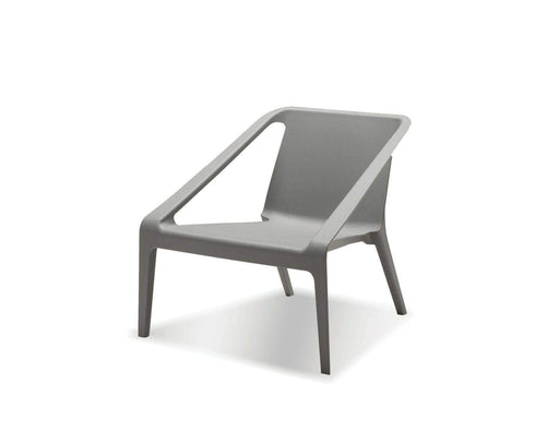 Mobital Accent Chair Grey Yumi Lounge Chair Grey Polypropylene Set of 4 - Available in 2 Colours