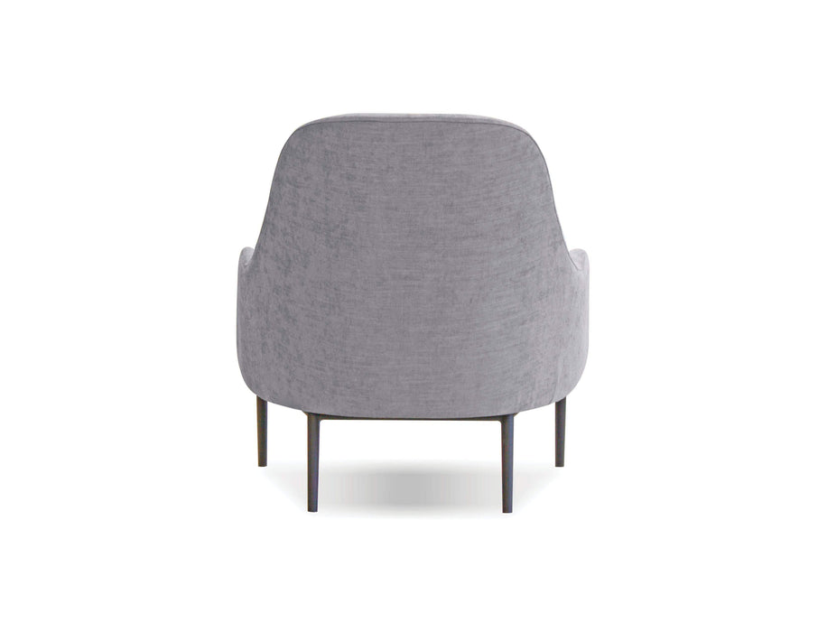 Mobital Accent Chair Light Grey Swoon Lounge Chair with Black Power Coated Steel- Available in 2 Colours