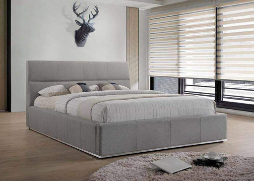 Reve Platform Bed in Grey Fabric