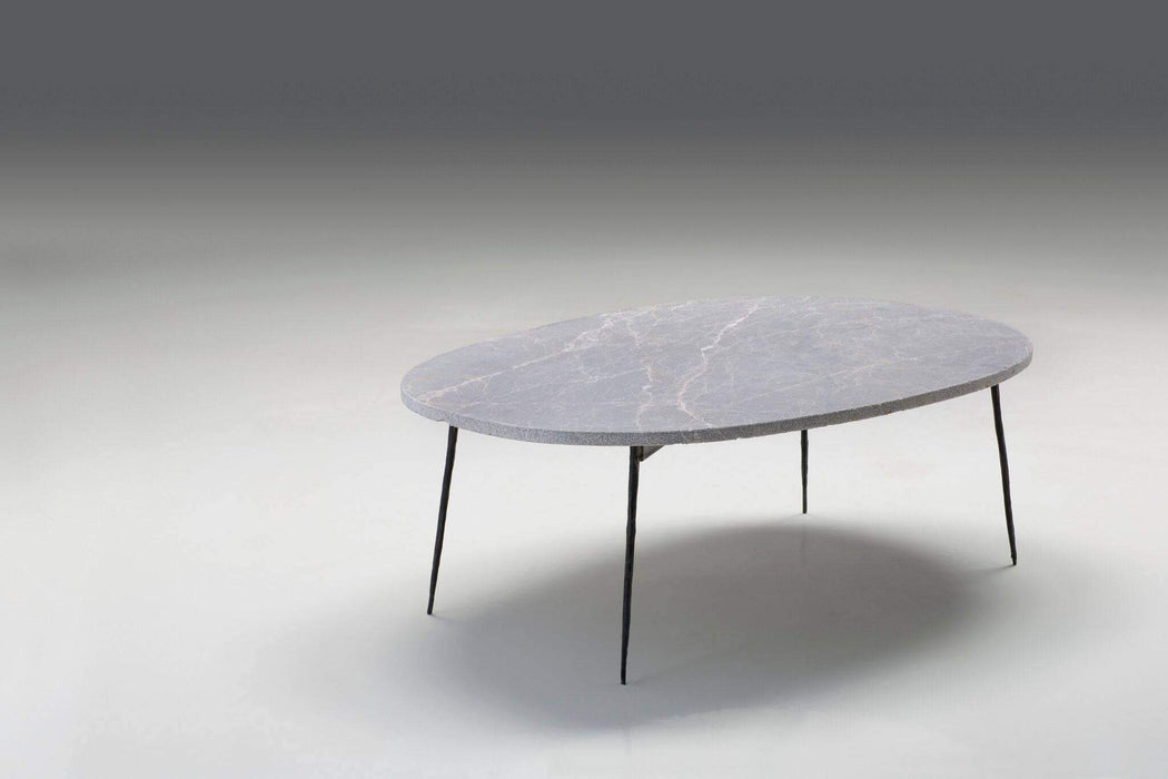 Mobital Coffee Table Large / Black Tuk Tuk Coffee Table Spanish Nero Marble with Black Powder Coated Steel - Available in 2 Colours