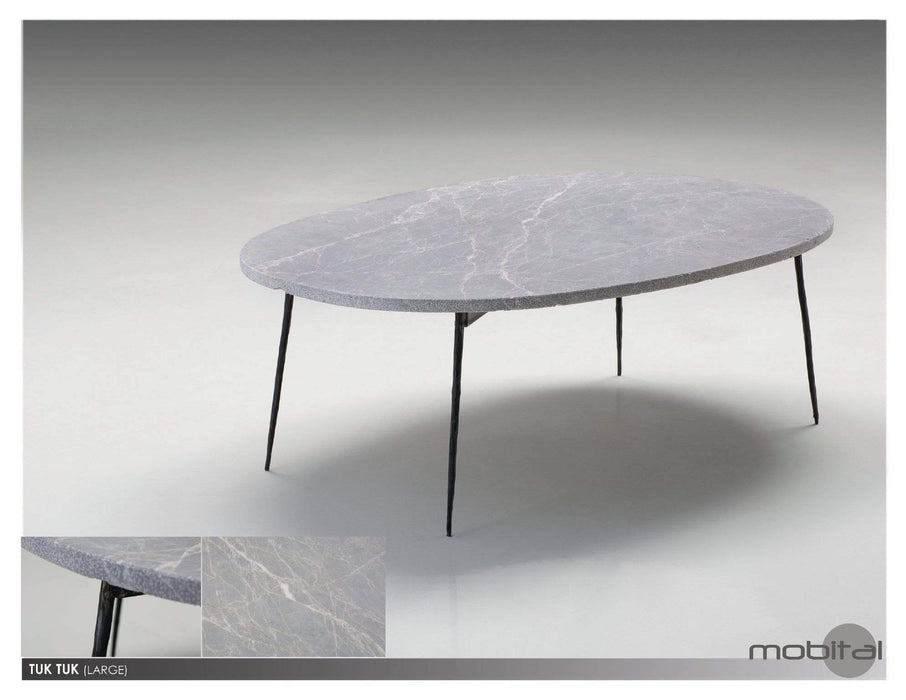 Mobital Coffee Table Large / Grey Tuk Tuk Coffee Table Spanish Nero Marble with Black Powder Coated Steel - Available in 2 Colours