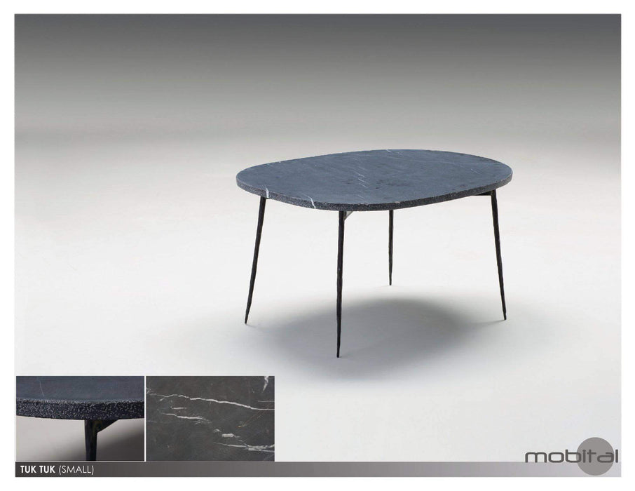 Mobital Coffee Table Small / Black Tuk Tuk Coffee Table Spanish Nero Marble with Black Powder Coated Steel - Available in 2 Colours
