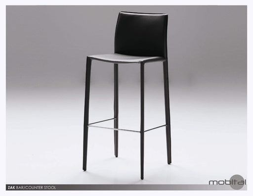 Mobital Counter Stool Black Zak Counter Stool Full Leather Wrap Set of 2 - Available in 3 Colours