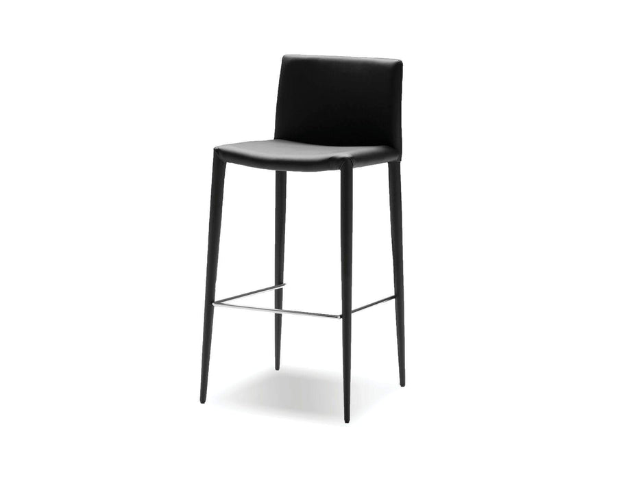 Mobital Counter Stool Black Zeno Counter Stool Full Leatherette Wrap Set of 2