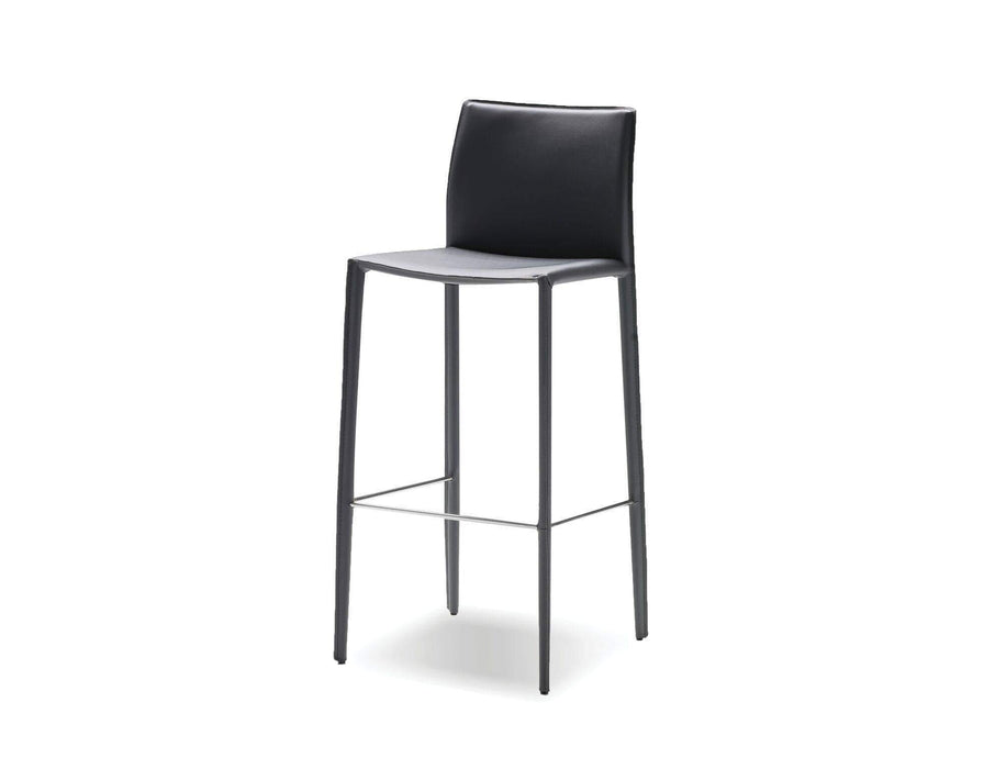 Mobital Counter Stool Grey Zak Counter Stool Full Leather Wrap Set of 2 - Available in 3 Colours