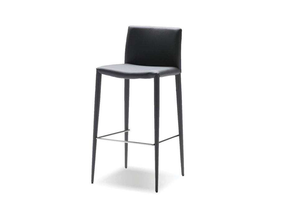 Mobital Counter Stool Grey Zeno Counter Stool Full Leatherette Wrap Set of 2