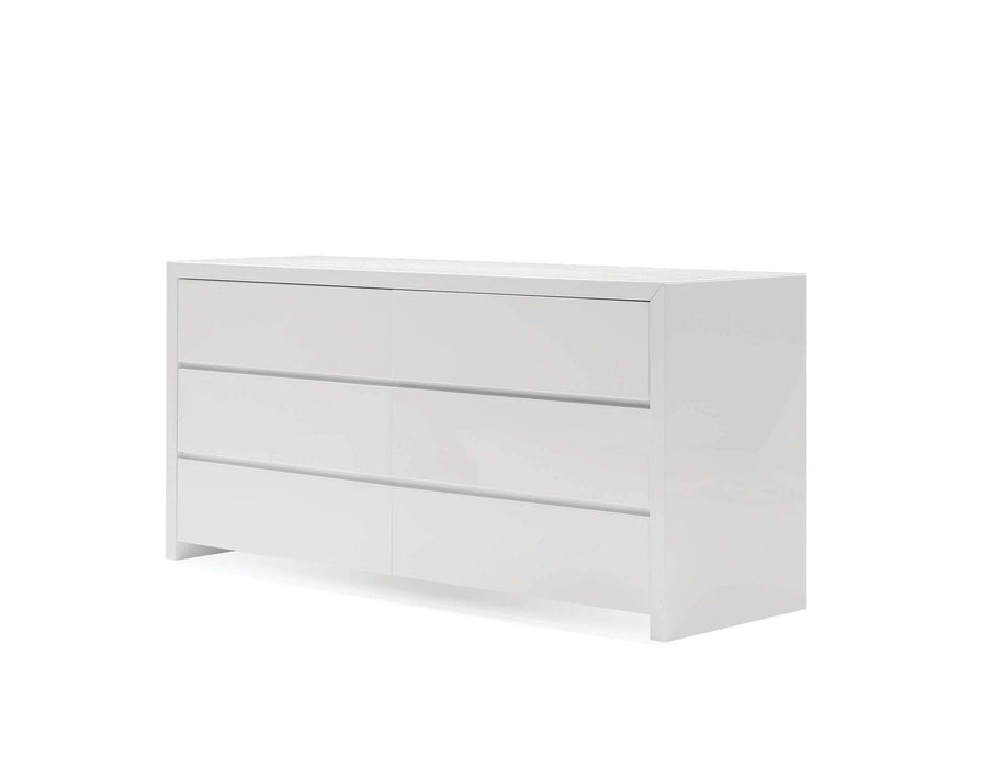Mobital Dresser White Blanche Double Dresser High Gloss - Available in 2 Colours