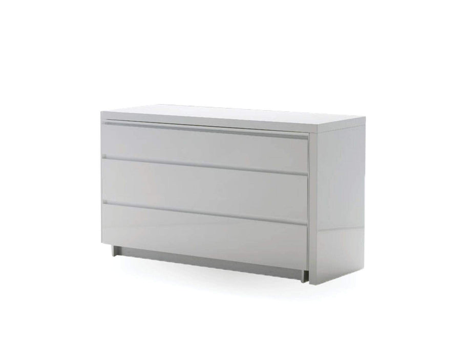 Mobital Dresser White Savvy Double Dresser High Gloss Light Grey - Available in 2 Colours