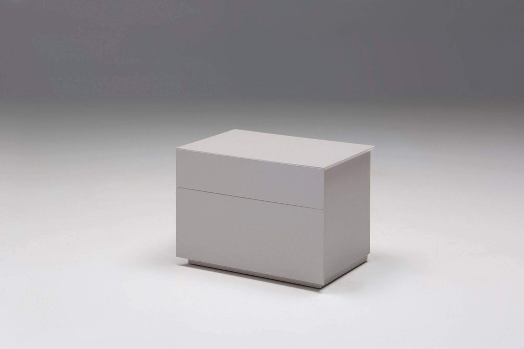 Mobital Nightstand Stone Vex 2 Drawer Night Table Matte Stone - Available in 2 Colours