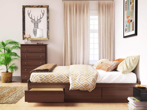 Modubox Bed Queen / Cherry Mate's Platform Storage Bed with 6 Drawers - Multiple Options Available