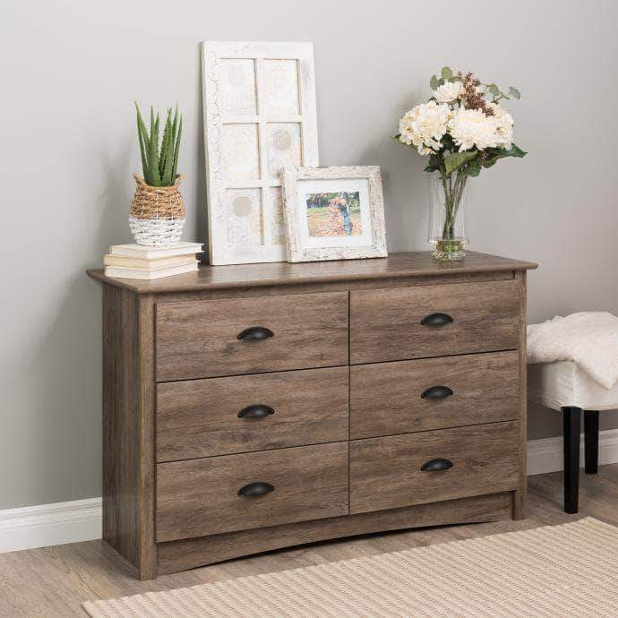 Modubox Drifted Grey Sonoma Children's 6 Drawer Dresser - Multiple Options Available