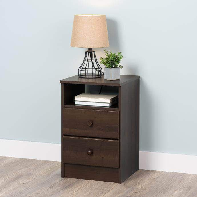 Modubox Espresso Astrid 2-Drawer Nightstand - Multiple Options Available