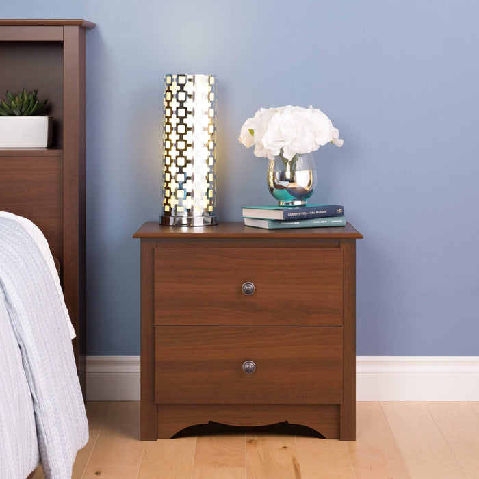 Modubox Sonoma Bedroom Cherry Sonoma 2 Drawer Nightstand - Multiple Options Available