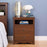 Modubox Sonoma Bedroom Cherry Sonoma Tall 2 Drawer Nightstand with Open Shelf - Multiple Options Available
