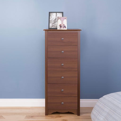Modubox Sonoma Bedroom Cherry Sonoma Tall 6 Drawer Chest - Multiple Options Available
